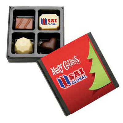 4Pc Belgian Chocolate Black Gift Box (CPBTB4_FL_CHOC)