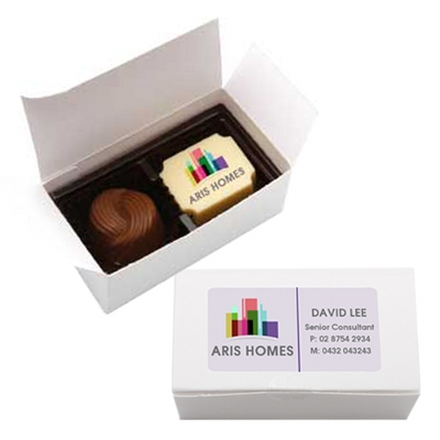 2pc Belgian Chocolate Gift Box -White (CPBTW2_CHOC)