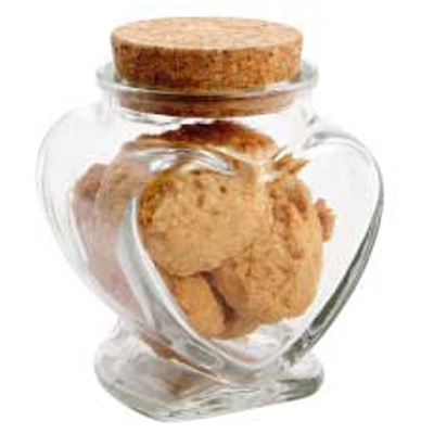 Glass Heart Jar with Mini Cookies (CPCNG39_MCO_CHOC)