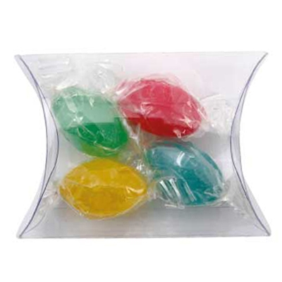 Clear Pillow Box with Mixed Acid Drops (CPCN09_AD_CHOC)