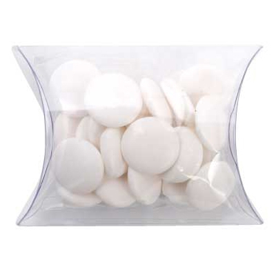 Clear Pillow Box with Flat Mints (CPCN09_FLM_CHOC)