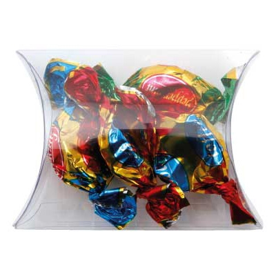 Clear Pillow Box with Toffees (CPCN09_TOF_CHOC)