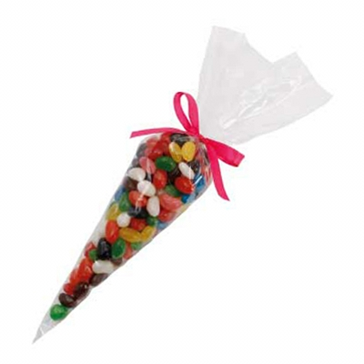 Confectionery Cones with Mixed Jelly Beans (CPCN35_MJB_CHOC)