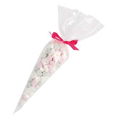 Confectionery Cones with Mini Marshmallows (CPCN35_MMM_CHOC)