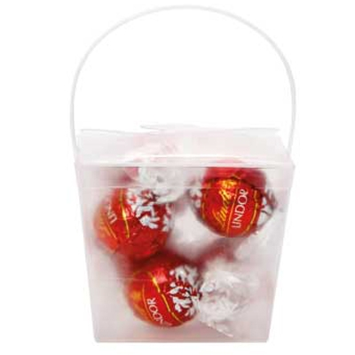 Clear Noodle Box with Lindor Balls (CPCNP21_LND_CHOC)