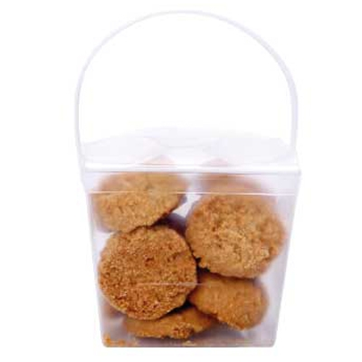 Clear Noodle Box with Mini Cookies (CPCNP21_MCO_CHOC)