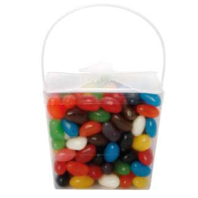 Clear Noodle Box with Mixed Jelly Beans (CPCNP21_MJB_CHOC)