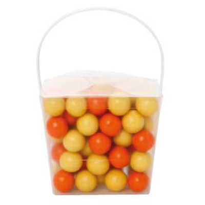 Clear Noodle Box with Chocolate Balls (Corporate Colour) (CPCNP21_SCB_CHOC)