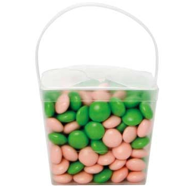Clear Noodle Box with Chocolate Gems (Corporate Colour) (CPCNP21_SCG_CHOC)