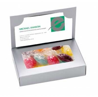 Business Card Box with Mixed Acid Drops (CPCNR45_AD_CHOC)