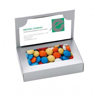 Business Card Box with Mixed Chocolate Gems (CPCNR45_CG_CHOC)