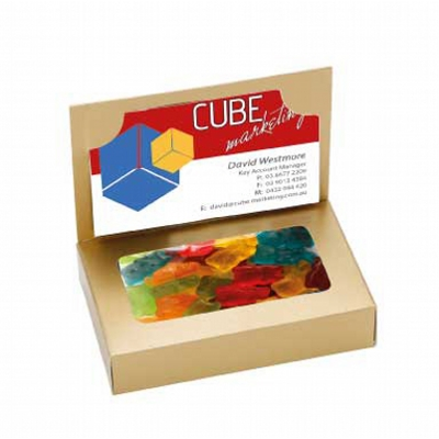 Business Card Box with Gummy Bears (CPCNR45_GB_CHOC)