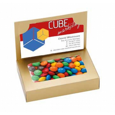 Business Card Box with M&M's (CPCNR45_MNM_CHOC)
