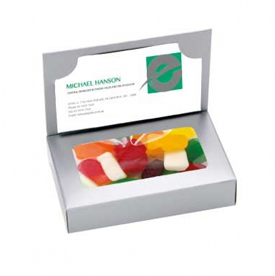 Business Card Box with Mixed Lollies (CPCNR45_MXL_CHOC)