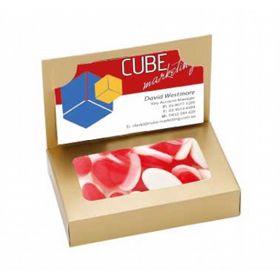 Business Card Box with Strawberry n Cream (CPCNR45_SNC_CHOC)