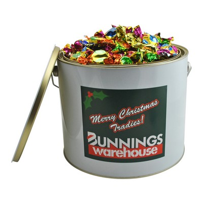 6 Ltr Paint Bucket with Candy Canes (CPCNT53_CC_CHOC)