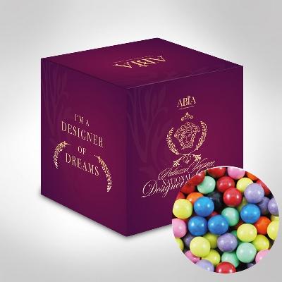 Custom Printed Mini Cube with Mixed Chocolate Balls (CPCUS10_CB_CHOC)