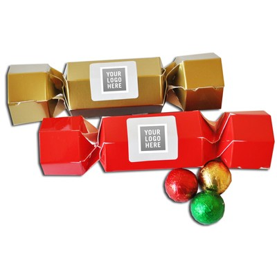 Coloured Christmas Crackers with Lindor Balls( No Ribbon) (PCRC_2LND_CHOC)