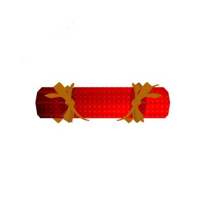 Coloured Christmas Crackers with 3 Chocolate Baubles (CPCURC_BB_CHOC)