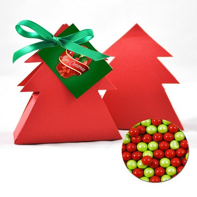 Christmas Tree Box with Red,Green and WhiteChocolate balls (CPSUS10_CBX_CHOC)
