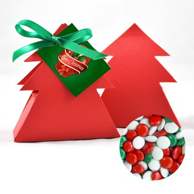 Christmas Tree Box with Red ,Green and White chocolate gems (CPSUS10_CGX1_CHOC)