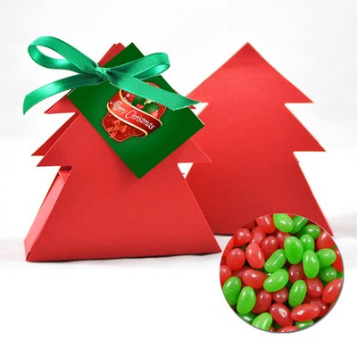 Christmas Tree Box with Red and Green Jelly beans (CPSUS10_MJB_CHOC)