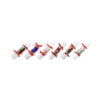 Clear Christmas Crackers with 6 X Chocolate Stars (CCRK_STRX_CHOC)