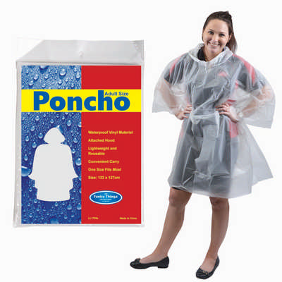 Reusable Poncho in Polybag (LL1799_LLPRINT)
