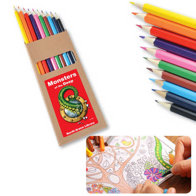 Coloured Full Length Colouring Pencils PK10 (LL1907_LLPRINT)