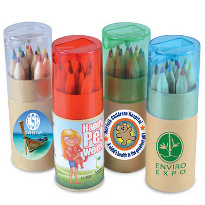 Coloured Pencils in Cardboard Tube (LL193_LLPRINT)