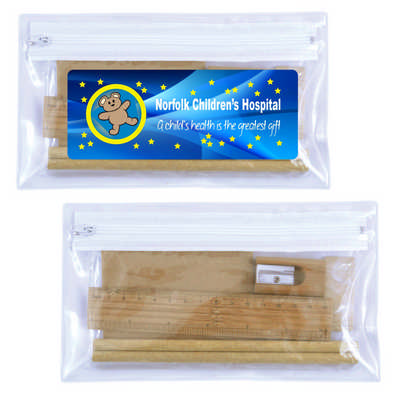 Bamboo Stationery Set in Pencil Case (LL21341_LLPRINT)