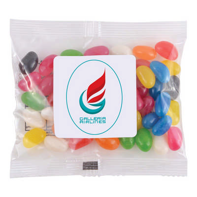Assorted Colour Mini Jelly Beans in 50 Gram Cello Bag (LL31470_LLPRINT)