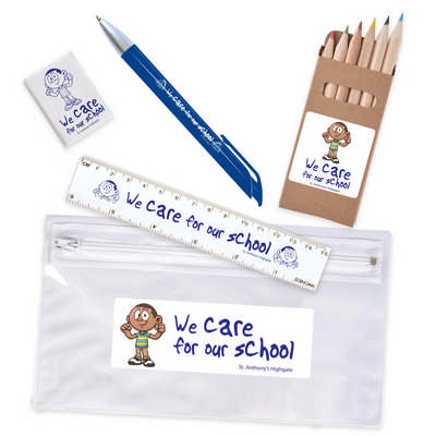 Stationery Set in PVC Pencil Case (LL4442_LLPRINT)