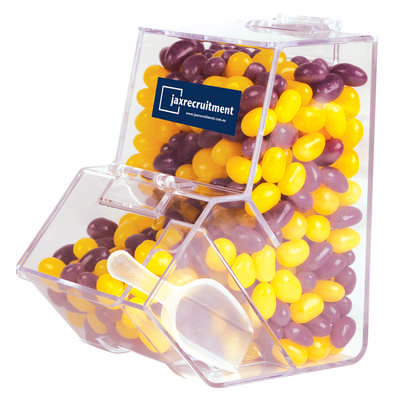 Corporate Colour Mini Jelly Beans in Dispenser (LL4872_LLPRINT)