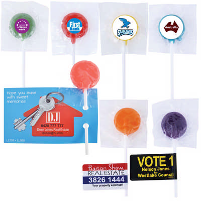 Assorted Colour Lollipops (LL555_LLPRINT)