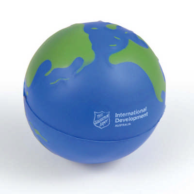2 Colour World Globe Stress Reliever (LL630_LLPRINT)