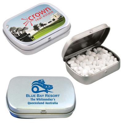 Sugar Free Breath Mints in Silver Tin (LL804_LLPRINT)