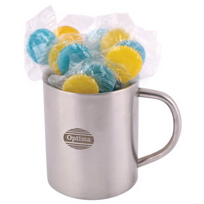 Corporate Colour Lollipops in Double Wall Stainless Steel Barrel Mug (LL8630_LLPRINT)