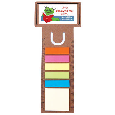 Business Card Bookmark / Ruler with Noteflags (LL8868_LLPRINT)