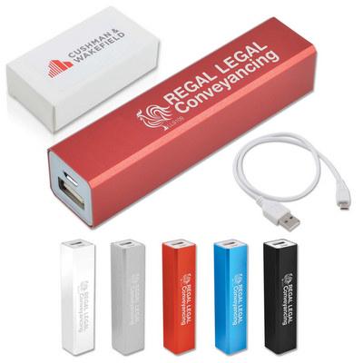 Aluminium Velocity Mobile Phone Power Bank (LL9109_LLPRINT)