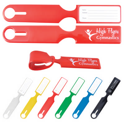 Shiny PVC Self Locking Luggage Tag (LN0017_LLPRINT)