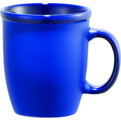 Cafe Au Lait Ceramic Mug - Blue (4079BL_RNG_DEC)