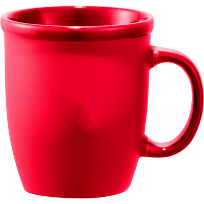 Cafe Au Lait Ceramic Mug - Red (4079RD_RNG_DEC)
