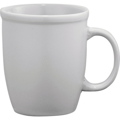 Cafe Au Lait Ceramic Mug - White (4079WH_RNG_DEC)