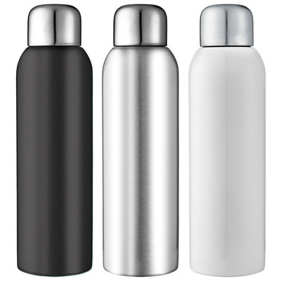Guzzle Stainless Sports Bottle - White (4082WH_RNG_DEC)