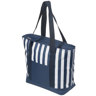 17.5 Litre Zippered Striped Beach Cooler bag (4279BL_RNG_DEC)