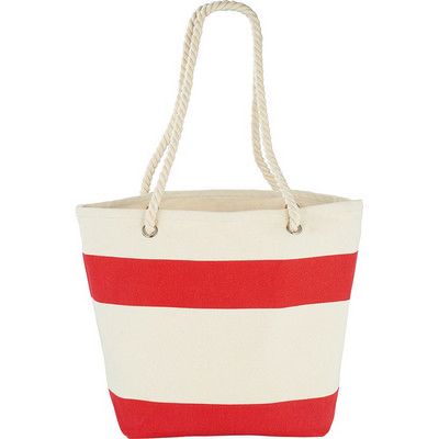 Capri Stripes Cotton Tote (5158RD_RG_DEC)