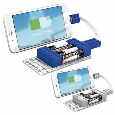 Office Block AA Emergency Mobile Charger - Blue (A1009BL_RNG_DEC)