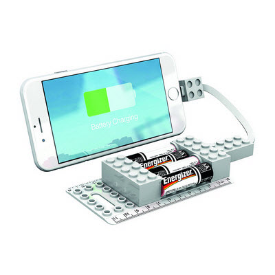Office Block AA Emergency Mobile Charger - White (A1009WH_RNG_DEC)