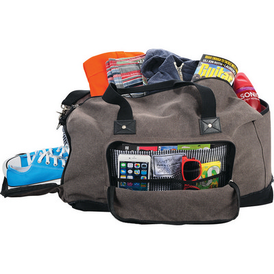 Field & Co Hudson 21```` Weekender Duffel Bag (FC1003GY_RNG_DEC)